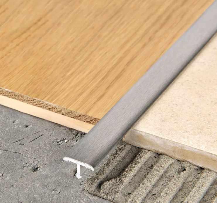 стык плитки и ламината алюминиевый профиль
