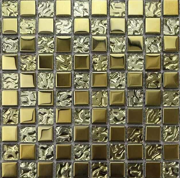 мозаика с золотой фольгой