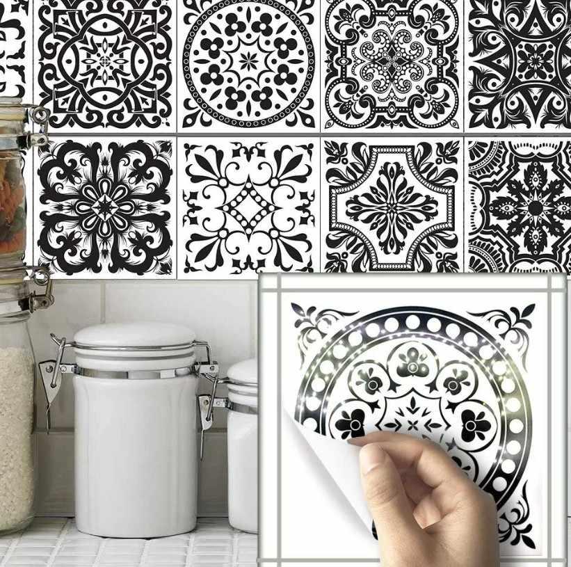 Декоративные налкейки на плитки