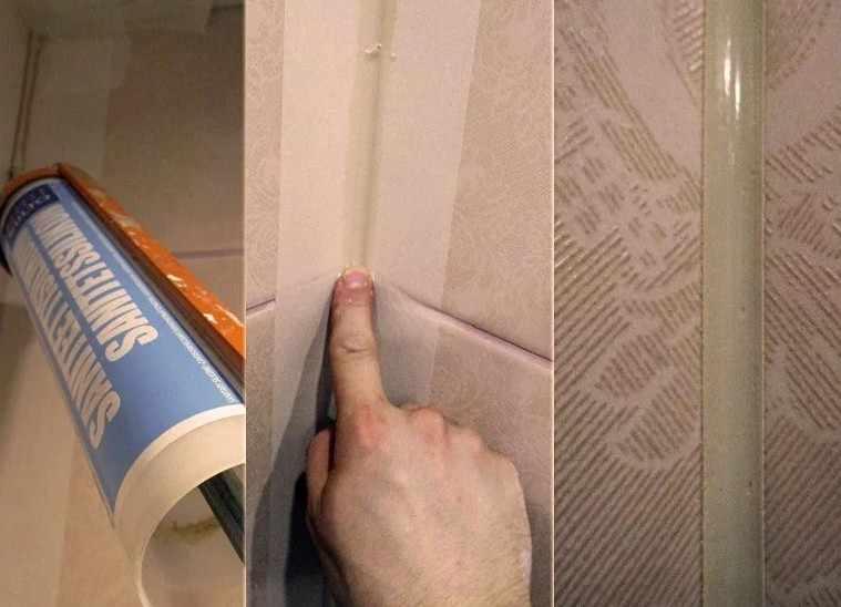 Малярная лента на плитке
