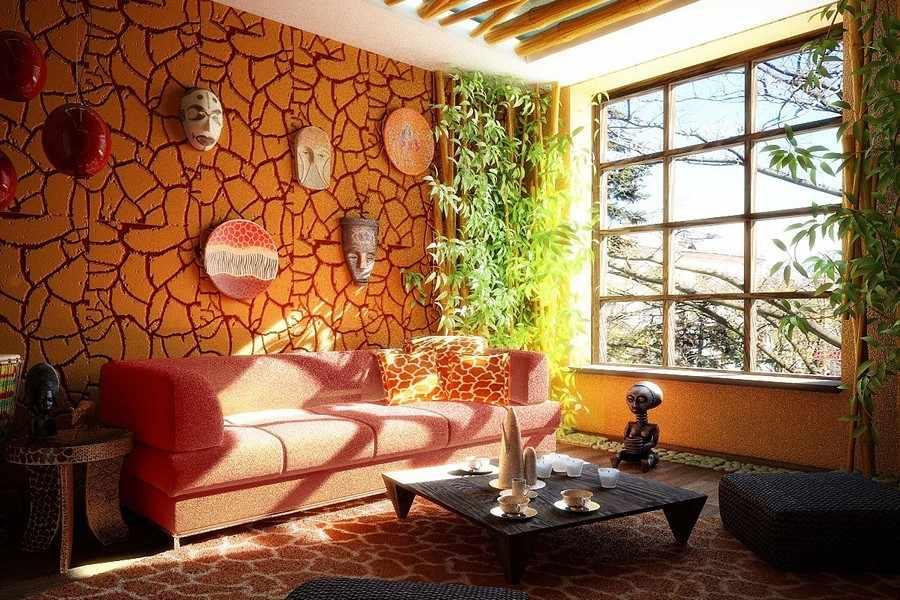 плитка в африканском стиле в интерьере