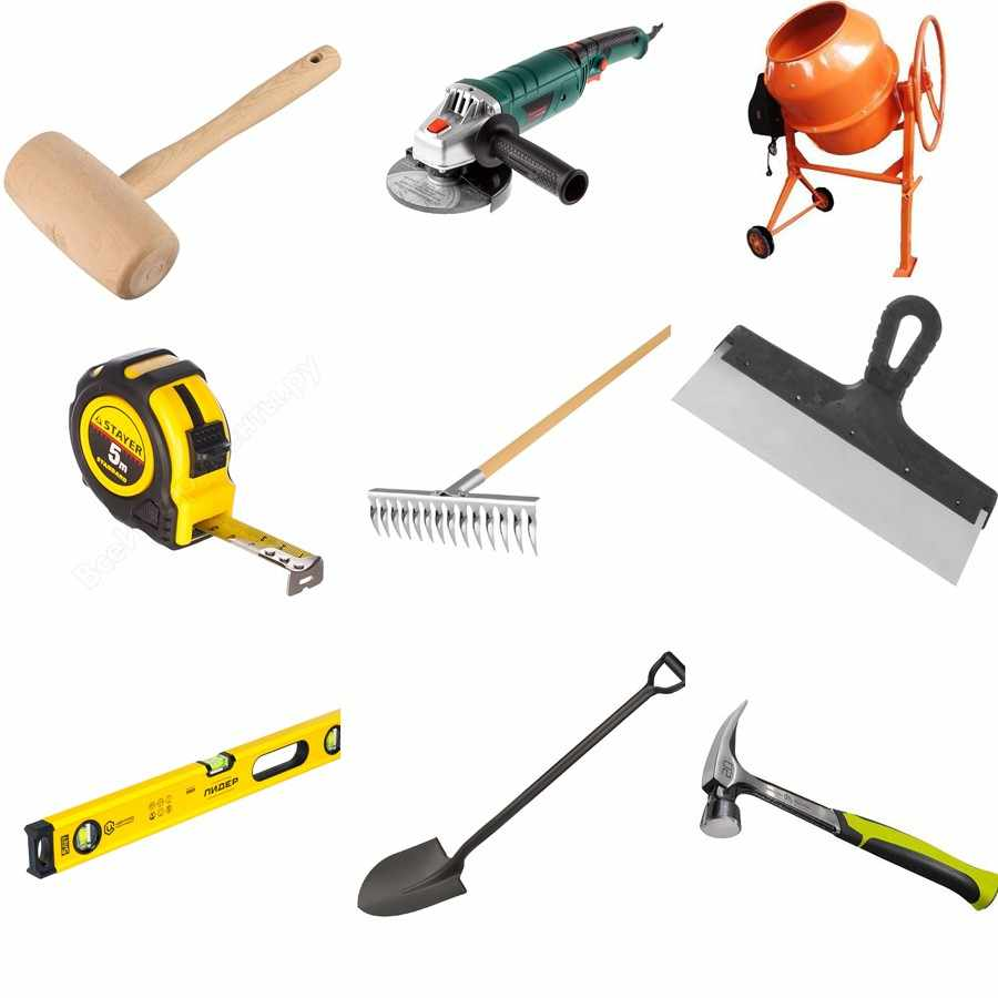 Инструменты для подготовки основания под тротуарную плитку