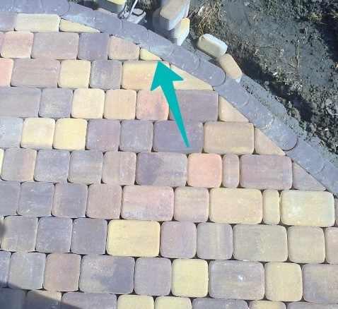 Обработка мелких участков тротуарной плитки