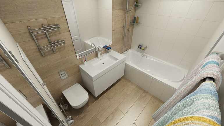 белая и молочная плитка в ванной