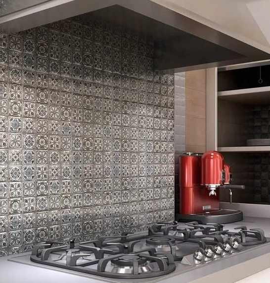 мозаика из керамогранита на фартуке