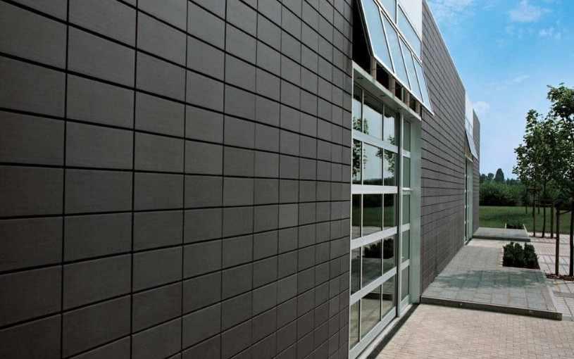 облицовочная плитка для фасада терракотовая
