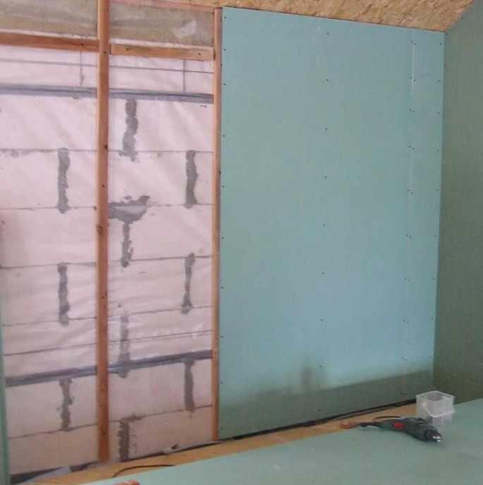 Обшивка стен гипсокартоном в комнате