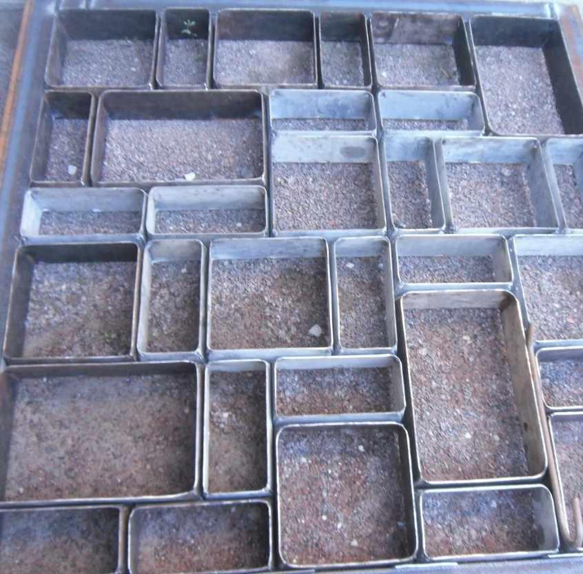 металлическая форма для плитки