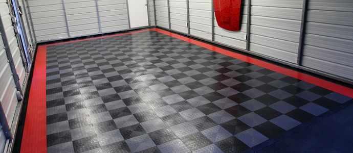 Кислотоупорная плитка в гараже