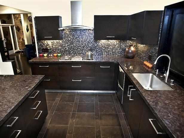 dark-kitchen-cabinets-with-tile-floor