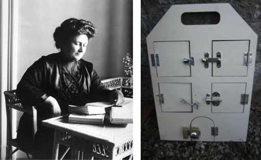Мария Монтессори изобрела первый бизиборд.