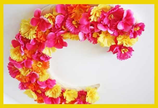 Как сделать декор буквы цветами на праздник своими руками