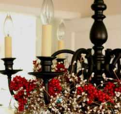 Как украсить люстру на Новый Год.
