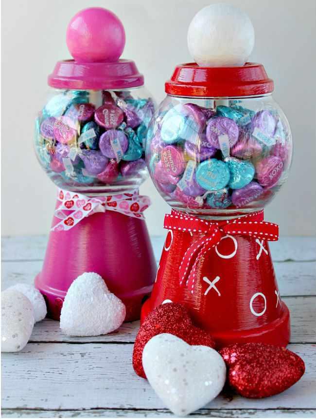 Конфетница на День Святого Валентина своими руками