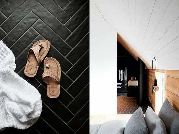 Необычный дом в Финляндии с черными акцентами в интерьере