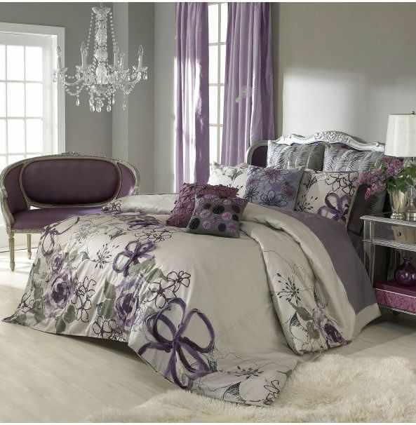 Фиолетовые шторы для спальни – эффектный декор для оконных проемов
