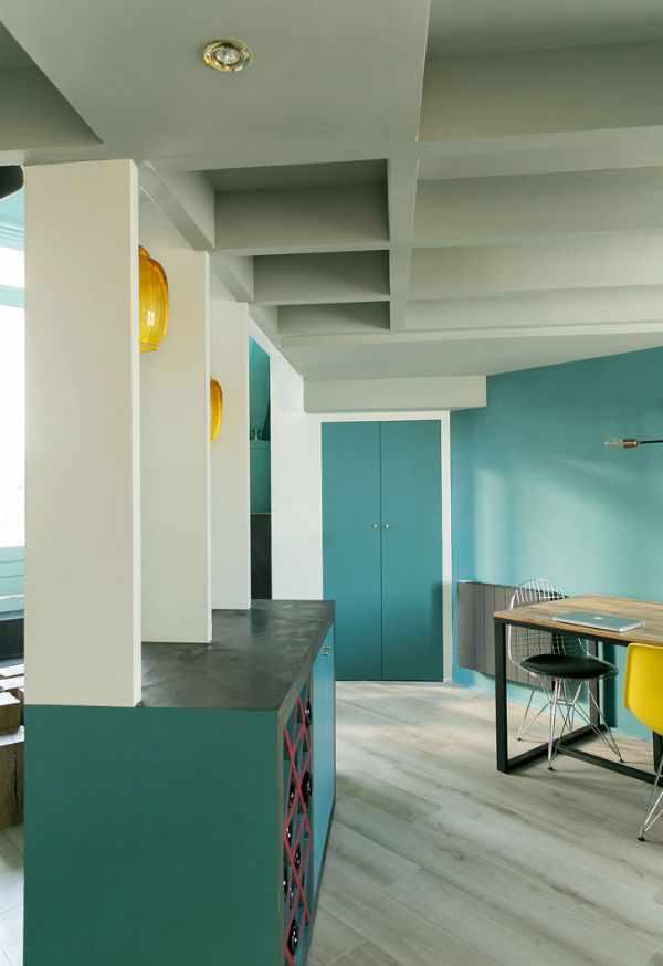 Интерьер голубой Парижской квартиры: модно и актуально