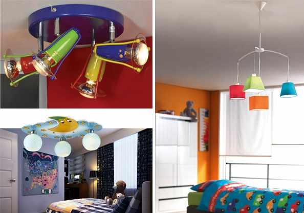 Люстры для детской комнаты мальчика.