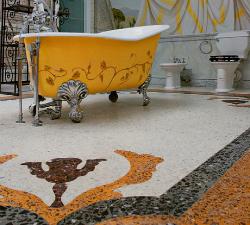 Необычная плитка для ванной.