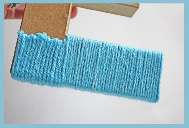 Объемная буква декорированная шерстяными нитками своими руками