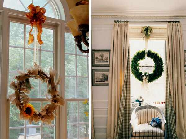 Как украсить окно на Новый Год.