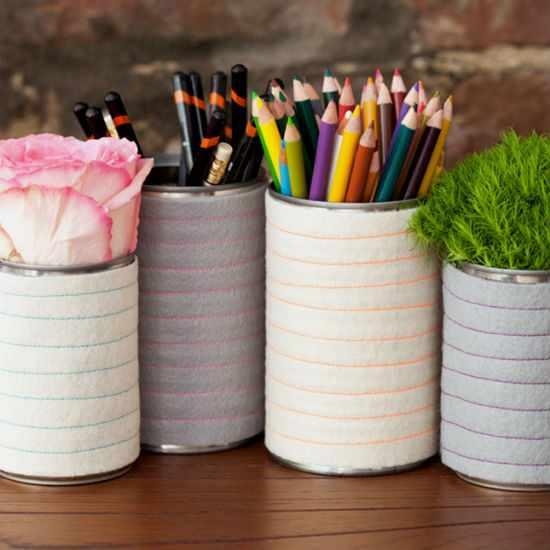 Как сделать подставку для карандашей.