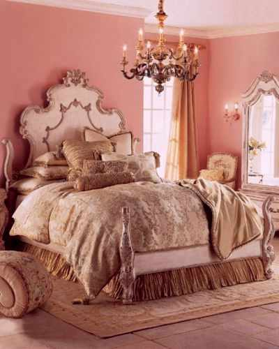 Розовая спальня.