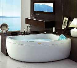 Угловые ванны в интерьере.