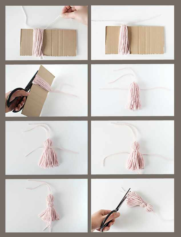 Красивая закладка для книги с кисточкой своими руками за 10 минут