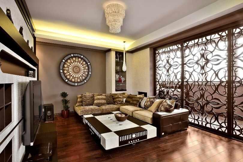 Арабский стиль в европейском интерьере гостиной