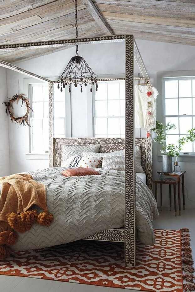 Спальня бохо