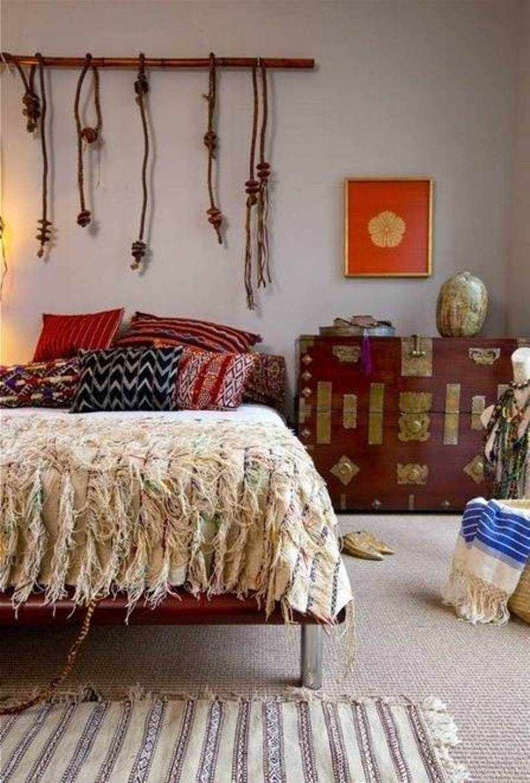 Стиль бохо в интерьере спальни