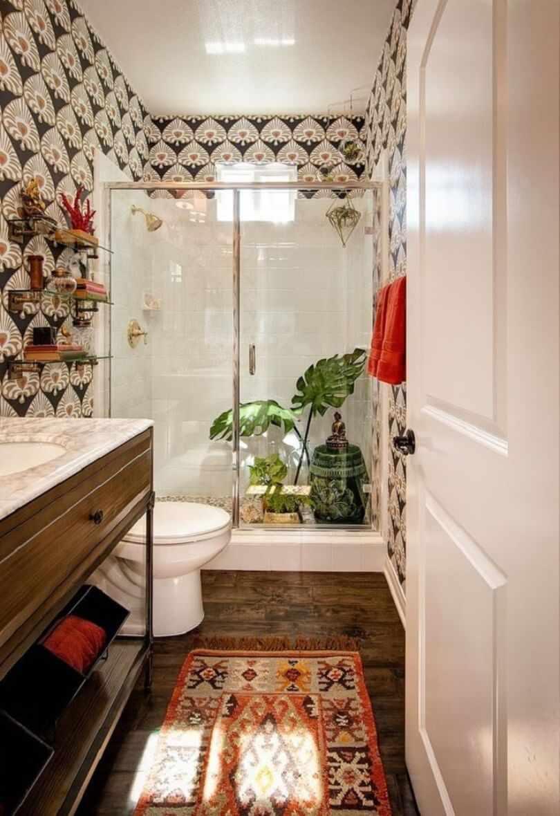 Стиль бохо в интерьере ванной