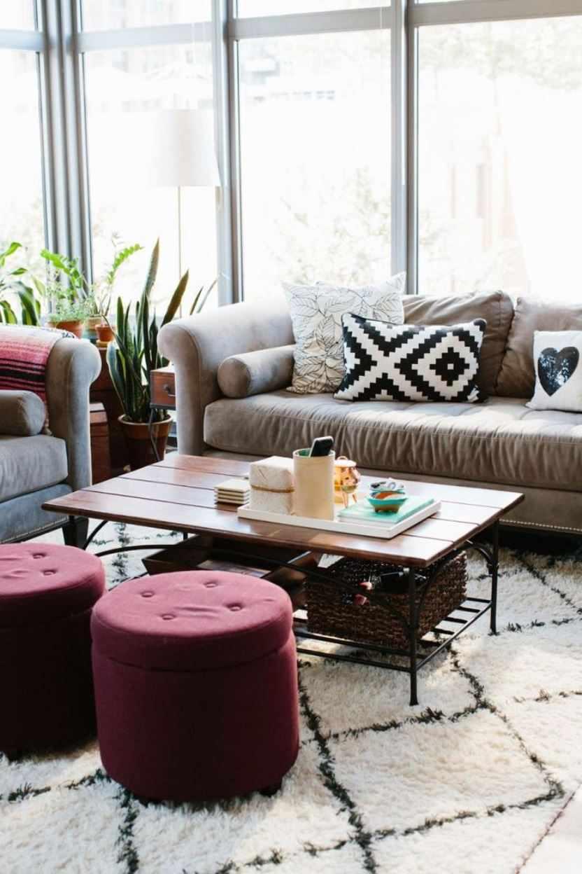 Цвет марсала в интерьере гостиной