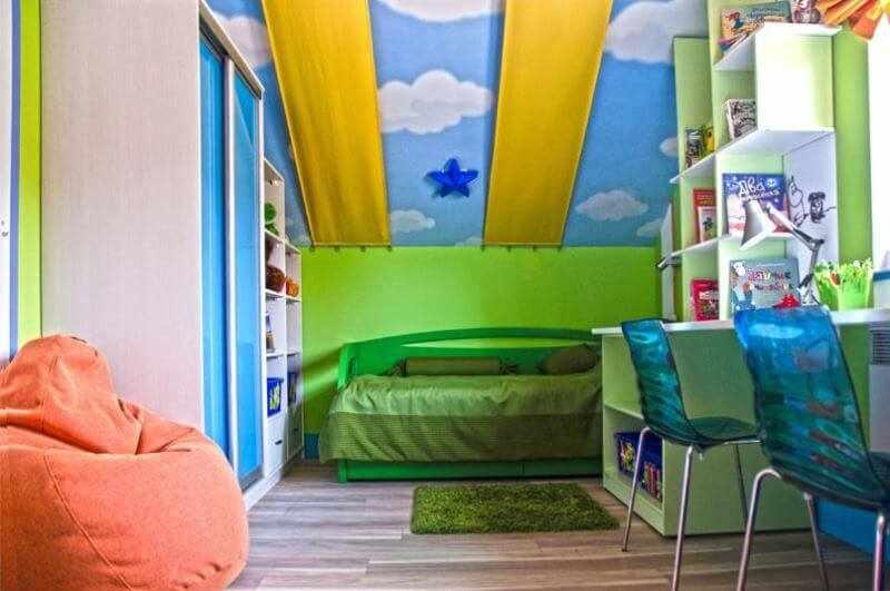 Детская комната на мансардном этаже