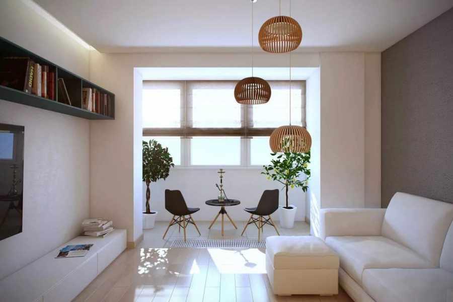 Совмещенный с комнатой балкон