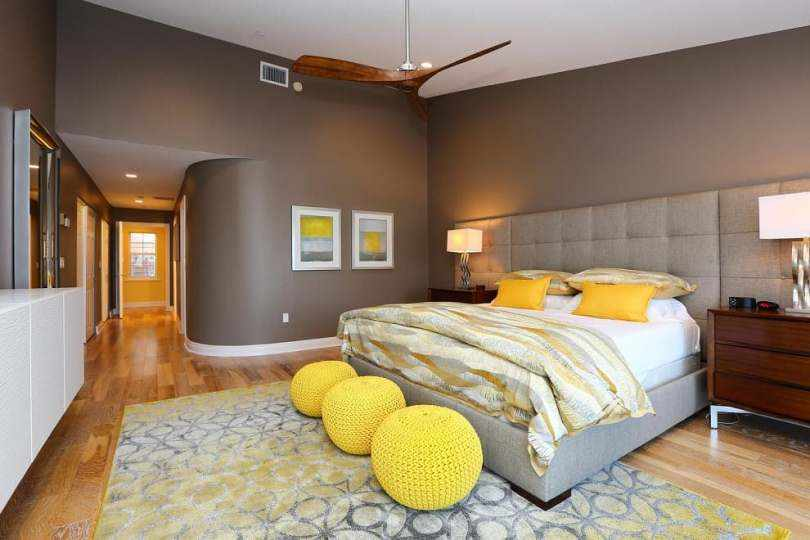Спальня в желтых оттенках
