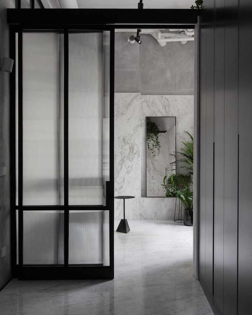 Двери прозрачные матовые