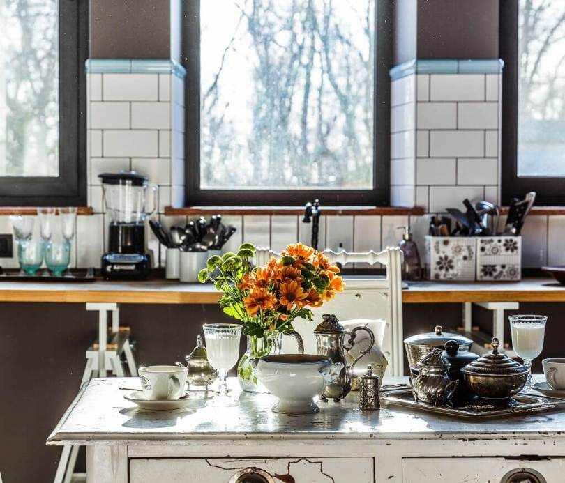 Большие окна в кухне