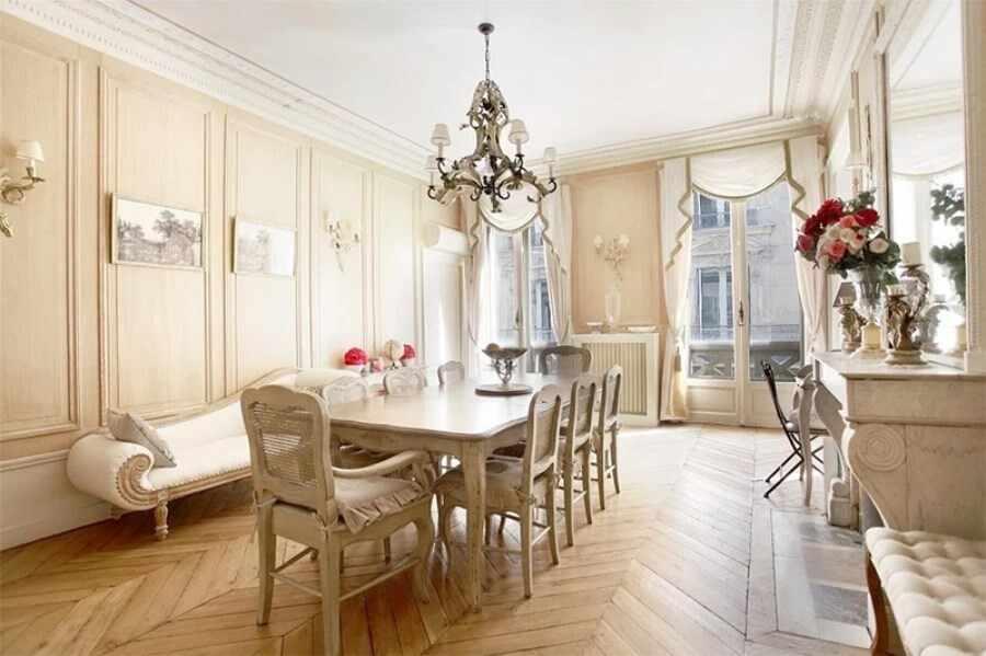 Классический французский дизайн столовой