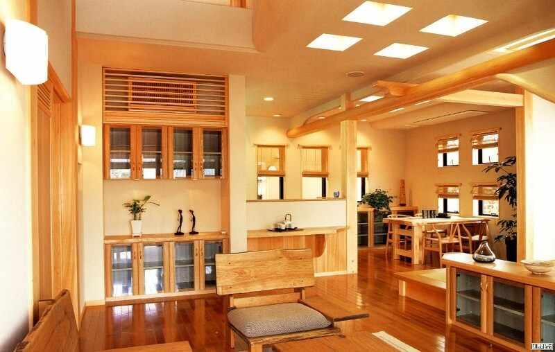Интерьер деревянного дома в японском стиле фото