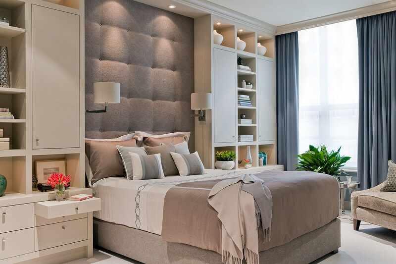 Контемпорари в интерьере спальни