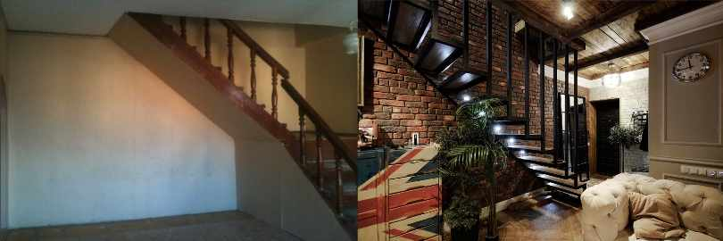 Лестница: до и после