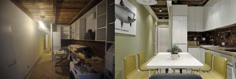 Кухня: до и после