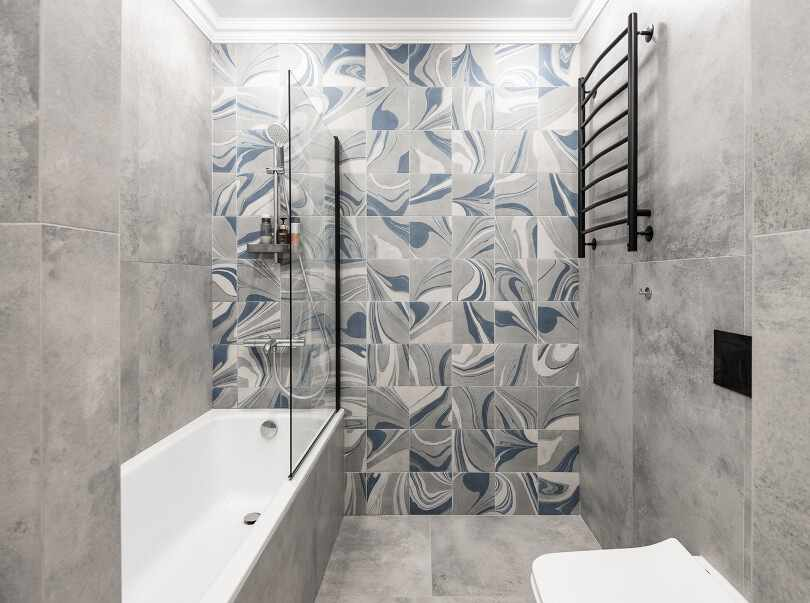 Акцентная стена в ванной