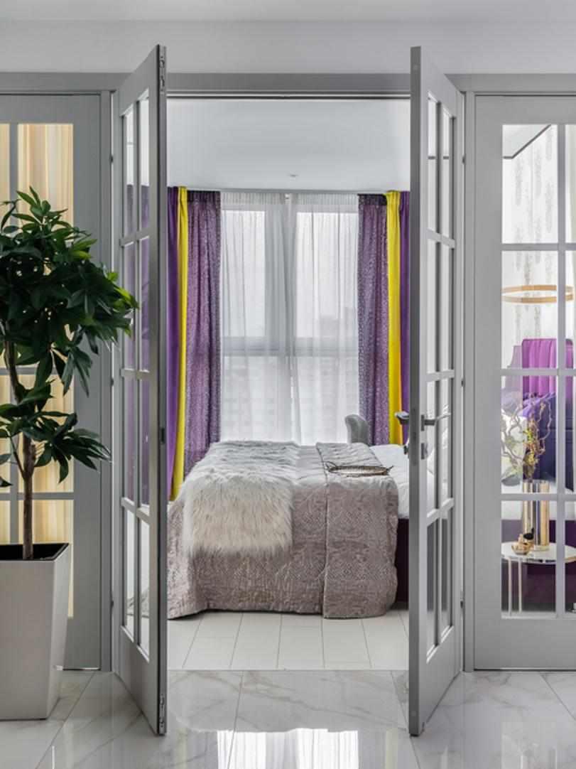 Сиреневые шторы