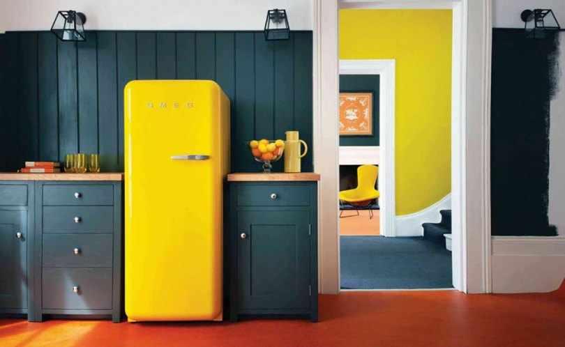 Кухня в желтых оттенках