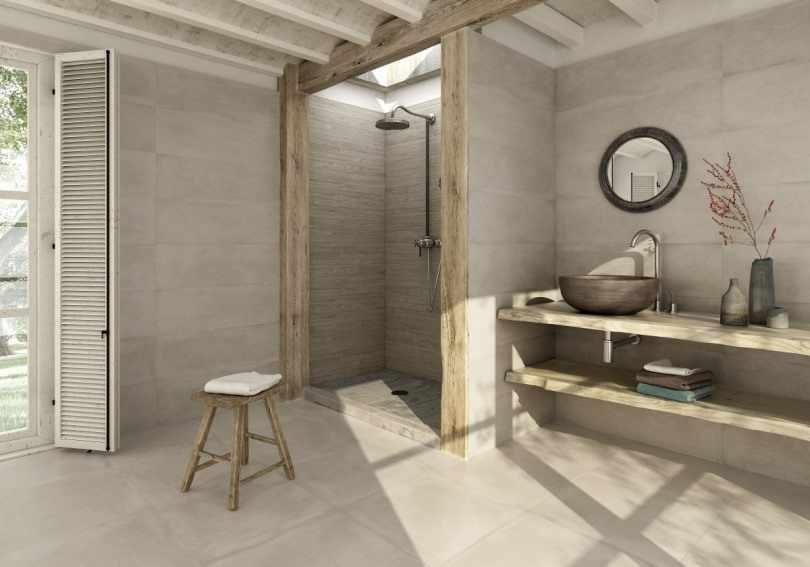 Ваби саби в интерьере ванной