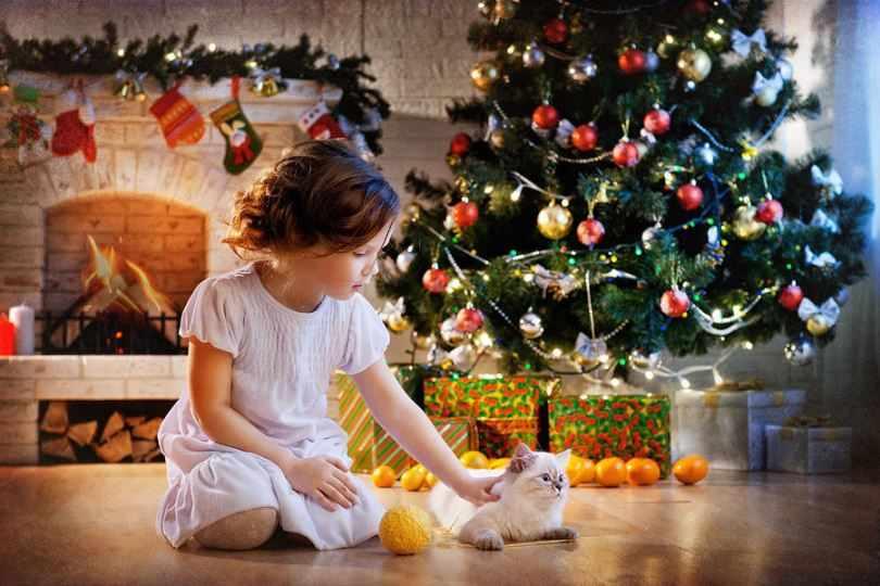 Новогодний детский интерьер