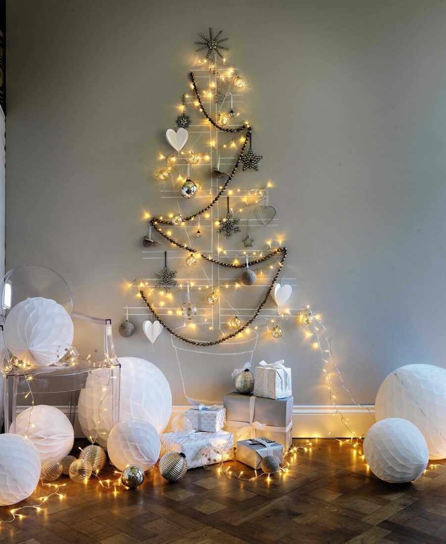 Новогодняя елка на стену